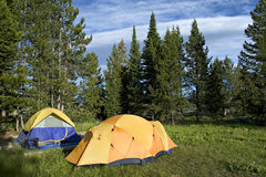 Bright tents stock images
