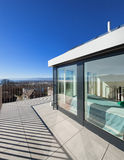 Bright terrace of a penthouse Royalty Free Stock Image