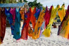 Bright textiles royalty free stock photo
