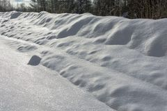 The texture of the brilliant white snow. Stock Image