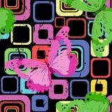 Bright texture. Butterflies Stock Image