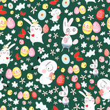 Bright texture of the Easter bunnies Royalty Free Stock Photography