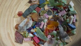Bright texture of different stones scattered royalty free stock photo