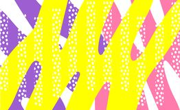 Vector abstract background texture design, bright poster, banner yellow background, pink and blue stripes and shapes. vector illustration
