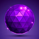 Bright textured plastic spherical object with flashes, pixilated Stock Image