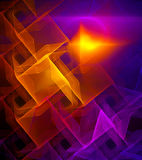 Bright tiled fractal. Digital generated this image Royalty Free Stock Image