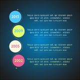 Bright timeline template infographic suitable for Royalty Free Stock Photography