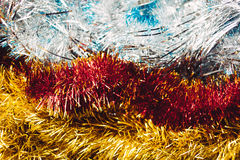 Bright tinsel christmas background Royalty Free Stock Photos