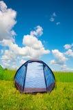 Bright tourist tent Stock Image