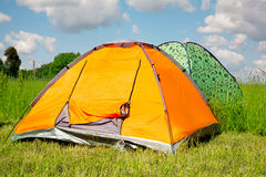 Bright tourist tent Stock Photography