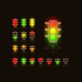 Bright Traffic Lamps Stock Image