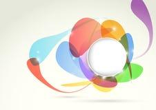 Bright transparent colorful design element Stock Photos