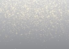 Bright transparent golden shimmering falling confetti background Stock Photos