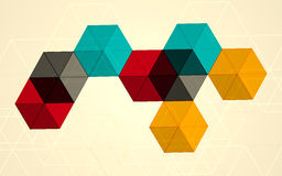 Bright Transparent Gradient Cube Background. Colorful background. Vector illustration EPS 10 Royalty Free Stock Image
