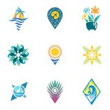Bright Travel Icons Royalty Free Stock Photos