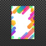 Bright trendy colorful lines folder background template. Vector illustration royalty free illustration