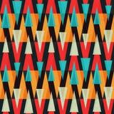 Bright triangle geometric seamless pattern stock illustration