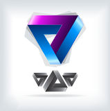 Bright triangle logo.icon Royalty Free Stock Photos