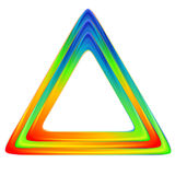Bright triangle logo. Rainbow colors Royalty Free Stock Photography