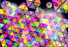 Bright triangle mosaic tiles background Royalty Free Stock Photo