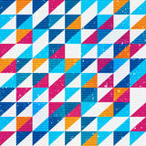 Bright triangle seamless pattern Stock Photography