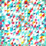 Bright triangle seamless pattern with grunge effect Stock Photos