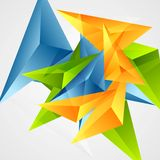 Bright triangle shapes vector background Royalty Free Stock Image