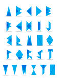Bright triangles alphabets collection Royalty Free Stock Images