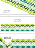 Bright triangles banners Royalty Free Stock Image