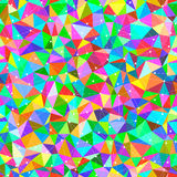 Bright Triangles. Vector seamless background with bright triangles and dots connected with lines Stock Image