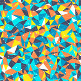 Bright Triangles. Vector seamless retro background with bright triangles and dots connected with lines Royalty Free Stock Images