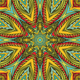 Bright Tribal Seamless Pattern Stock Image
