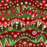 Bright Tribal Seamless Pattern Stock Photos