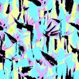 Tropical jungle exotic floral print bright vivid seamless pattern endless repeat vibrant royalty free illustration