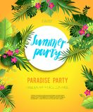 Yellow summer poster Stock Photography