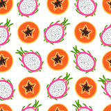 Bright tropical pattern Royalty Free Stock Photography