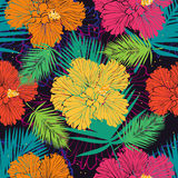 Bright tropical pattern Royalty Free Stock Image