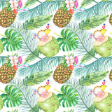 Bright tropical seamless pattern Stock Image