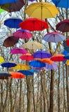 Bright umbrellas. Bright, Vivid Colors. Freedom concept Royalty Free Stock Image