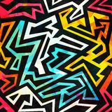Bright urban geometric seamless pattern Stock Image