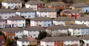 Bright Urban homes. Pastel colored urban homes in Bristol Royalty Free Stock Photography
