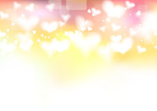 Bright valentine day background template. Clip-art Royalty Free Stock Photography