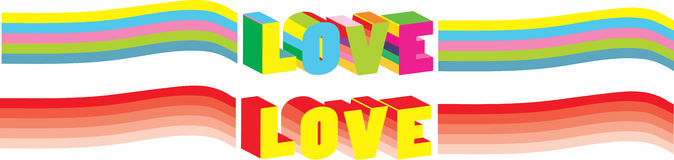 Bright Valentine's card. For your design Stock Images