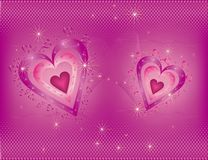 Bright  Valentine's  Day background Royalty Free Stock Photos