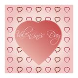 Bright Valentine`s day background. For design Royalty Free Stock Photo