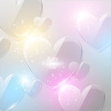 Bright Valentine`s day background Stock Photo