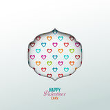 Bright Valentine`s day background Royalty Free Stock Photo