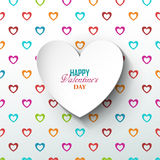 Bright Valentine`s day background Stock Photography