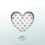 Bright Valentine`s day background Stock Images