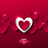Bright Valentine`s day background Stock Image